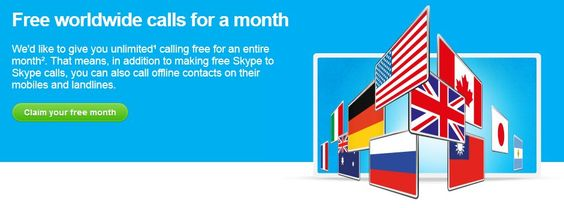 One Month Unlimited Worldwide Calling For Just $1 On Skype | Appareils ...