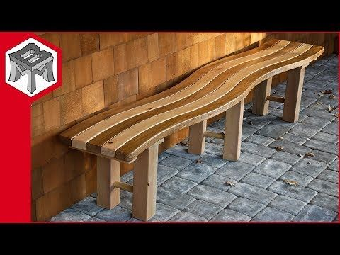 How To Make A Curved Outdoor Garden Bench Youtube Outdoor Garden Bench Porch Garden Garden Bench Diy