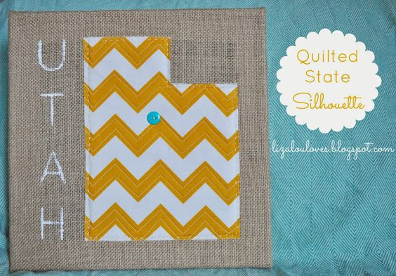 Quilted State Silhouette step-by-step tutorial