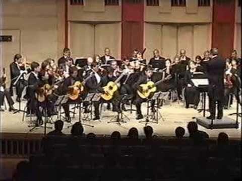 """Brahman Guitar Quartet : J.Rodrigo -Concerto """"Andaluz"""" 1st m"""