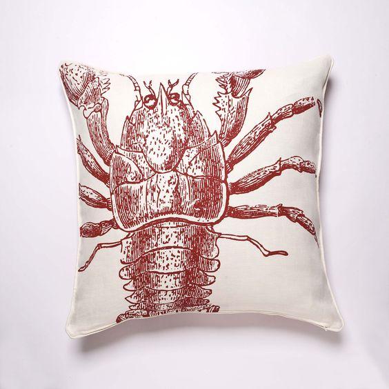 Lobster Pillow by Thomas Paul  #JoesCrabShack #JoesMaineEvent