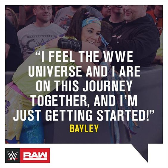 @itsmebayley seems to have BIG plans for the future... #WWE #RAW