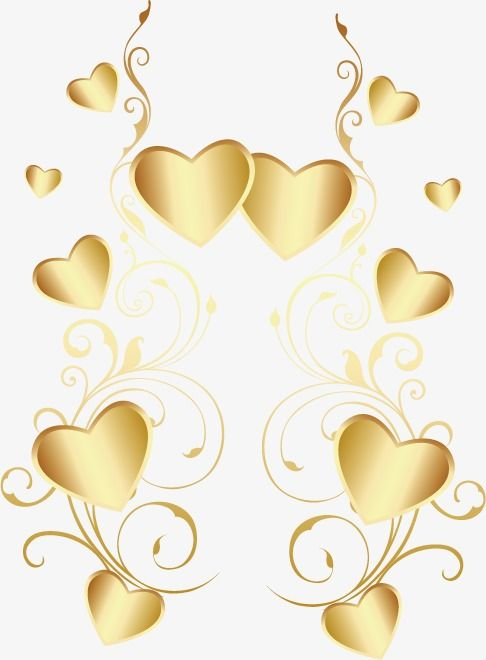 Heart Shaped Gold Heart Shaped Material Taobao Valentine S Day Element Png Transparent Clipart Image And Psd File For Free Download Heart Shapes Love Wallpaper Shapes
