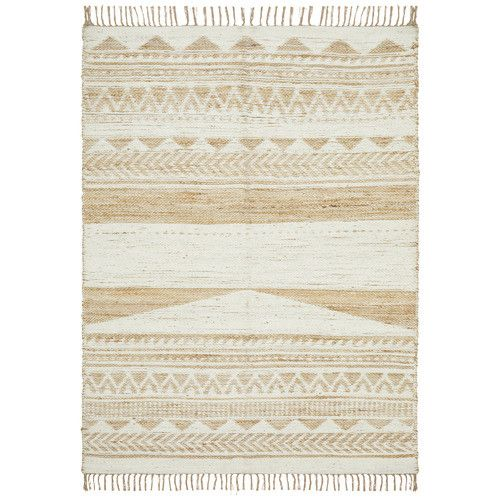Michihoaca Flat Weave Jute Cotton Rug