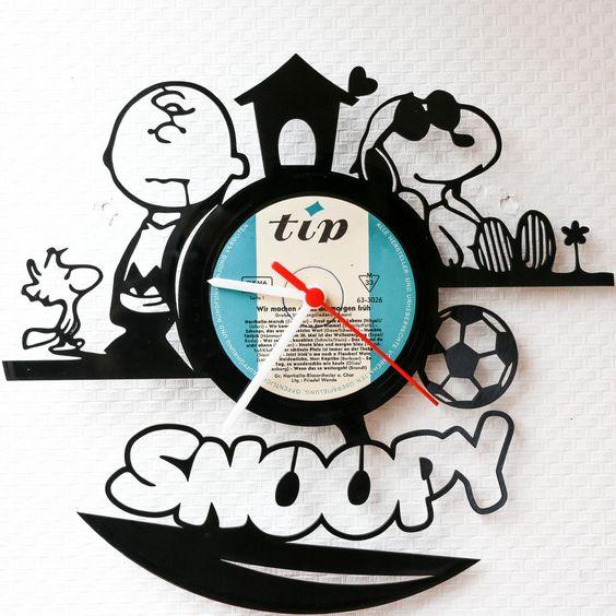 Schallplattenuhr Snoopy