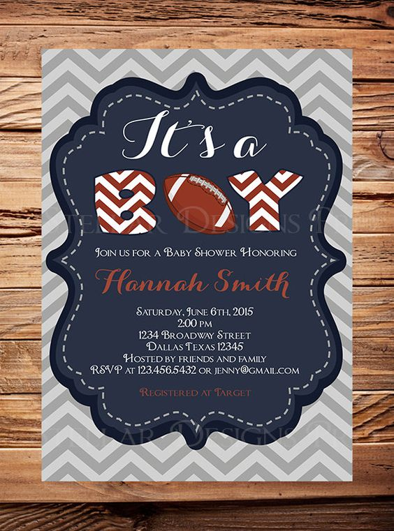 football baby shower etsy baby shower invitations baby showers shower