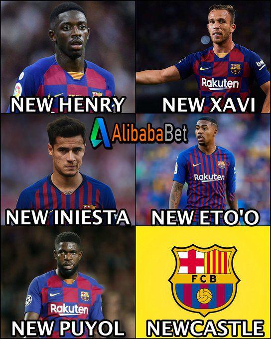 Barcelona 2019 2020 Newcastle Meme Lucu Meme Sepak Bola Meme