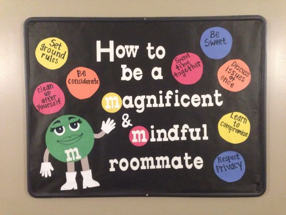 Roommate bulletin board. #RA #bulletinboard #msu