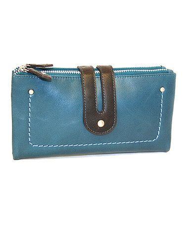 Look at this #zulilyfind! Blue Double Trouble Wallet #zulilyfinds