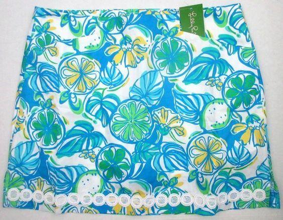 LILLY PULITZER 10 Marigold Resort White SWEET & SOUR Skort Skirt NWT 10 #LillyPulitzer #Skort