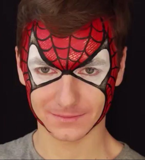 Olga's Spider Man | FACE PAINTING IDEAS | Pinterest ...