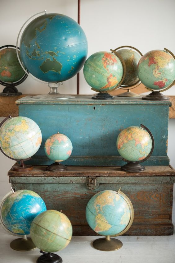 Love globes and maps. I have entirely too many, if That's even possible.