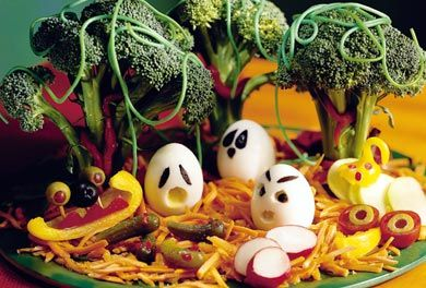 Halloween Platter of Veggies