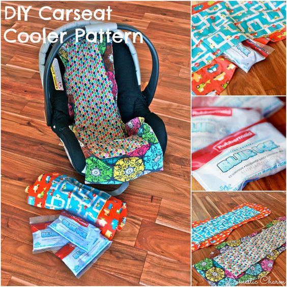 DIY Car Seat Cooler with FREE Pattern. Leave the ice packs on the seat while you're running errands, so when its time to put baby in the car, his seat is nice and cool! @ddgagnon