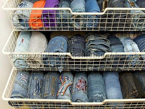 wenn du die jeans rollst hast du viel bessere bersicht und sparst dabei platz im. Black Bedroom Furniture Sets. Home Design Ideas