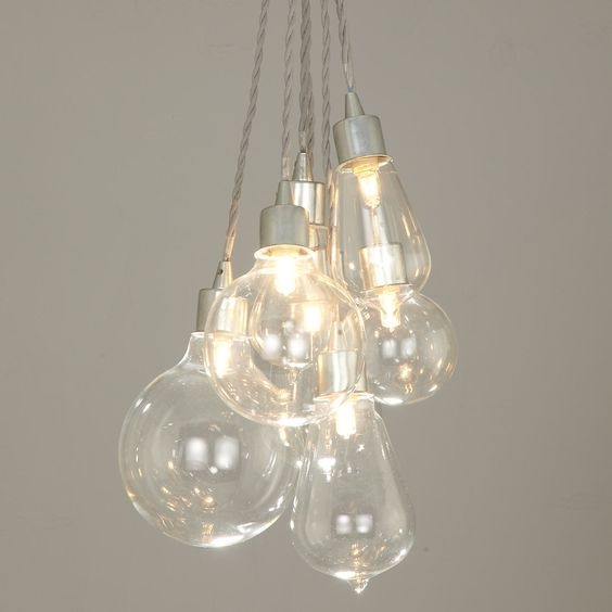 Buy John Lewis Croft Collection Kinsley Glass Dangle Cluster Ceiling Light | John Lewis