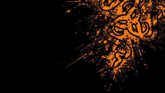 Razer Logo Orange HD 1920×1080
