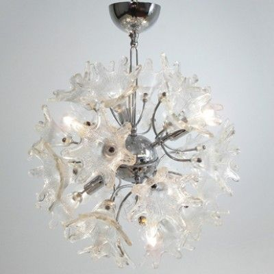 Located using retrostart.com > Flower Sputnik Hanging Lamp by Unknown Designer for Venini and C. Murano