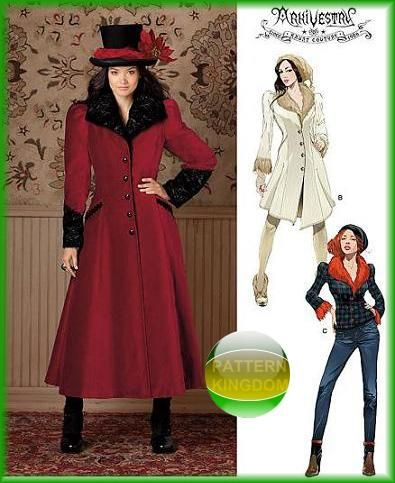 Simplicity 1732 Ladies Victorian Steampunk Coat & Jacket Patterns