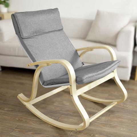 Rocking Chair Fauteuil A Bascule Avec Repose Pieds Sobuy Sobuy Fr En 2020 Fauteuil Relax Fauteuil A Bascule Chaise A Bascule