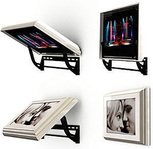 Hidden Vision TV Mount Behind Art