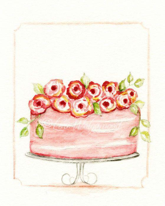 نتيجة بحث الصور عن سكرابز كيك Rose Art Watercolor Wedding Cake Watercolor Cake