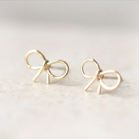 Laonato little bow earrings - one of the many cute designs! etsy.com/shop/laonato