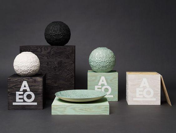 AEO studio ceramics packaging.