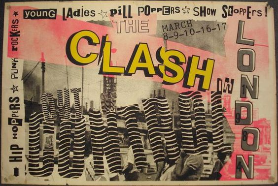 An 'Out Of Control' Clash tour concert poster, London, March 1984,