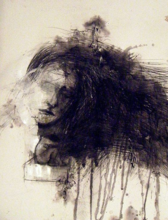 "Saatchi Online Artist: Fotini Hamidieli; Charcoal, 2012, Drawing ""outside the box"""