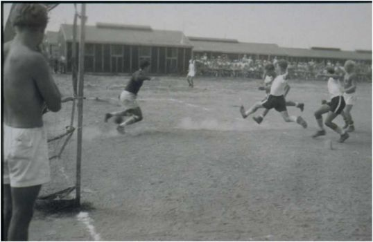 Prisoners enjoyed sports on recreation fields. Non-commissioned officers and those of higher rank were not required to work. Soccer was a popular pasttime.