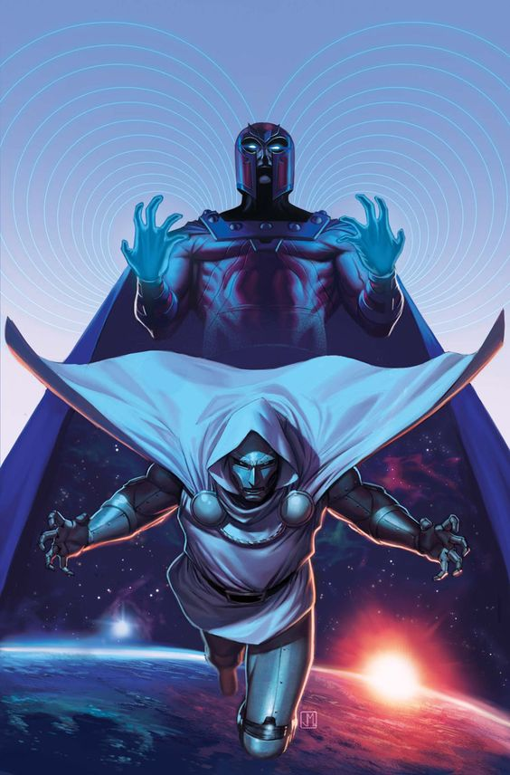 X Men 16 cover art featuring Magneto and Dr Doom