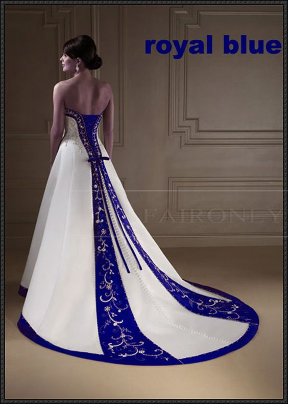 My dream dress, i ran across this 8 years ago and fell in love with it now im still drooling over it Wedding Dresses with blue trim | 2013 New Arrivals ...