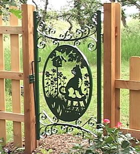 Metal Art Projects Cat Gate And Plasma Cutting On Pinterest