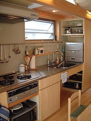 造作キッチン ローコスト 実例 サンプル ステンレス天板