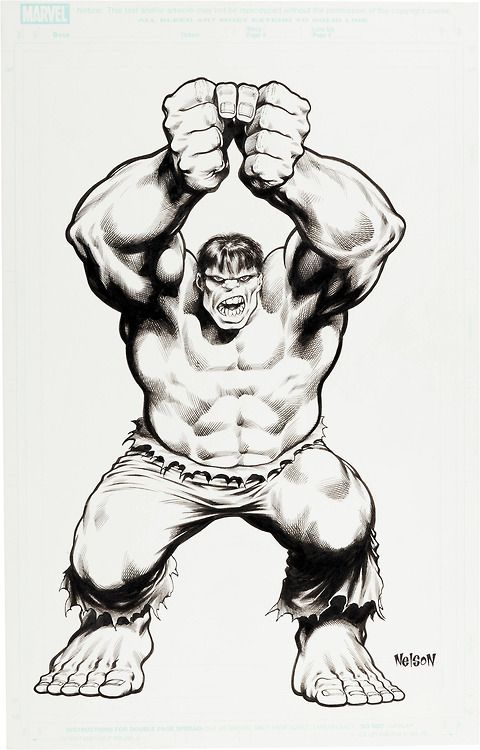 thebristolboard:  The Incredible Hulk by Mark Nelson.