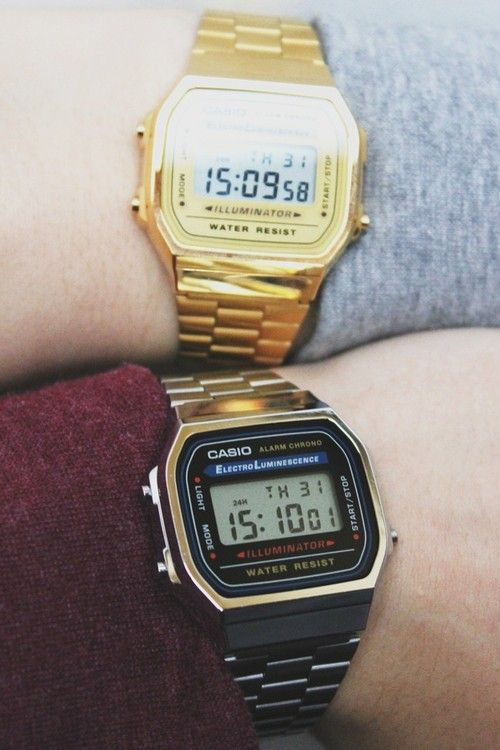 casio watches black gold pins on the go from gadget