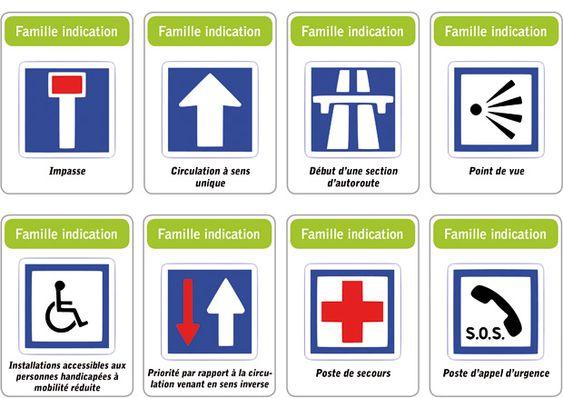 jeu des 5 familles de panneaux de signalisation routi re. Black Bedroom Furniture Sets. Home Design Ideas