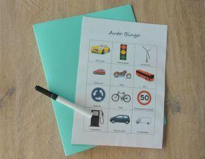Printable; Auto Bingo // Road trip Bingo // dry erase // www.bblogt.nl