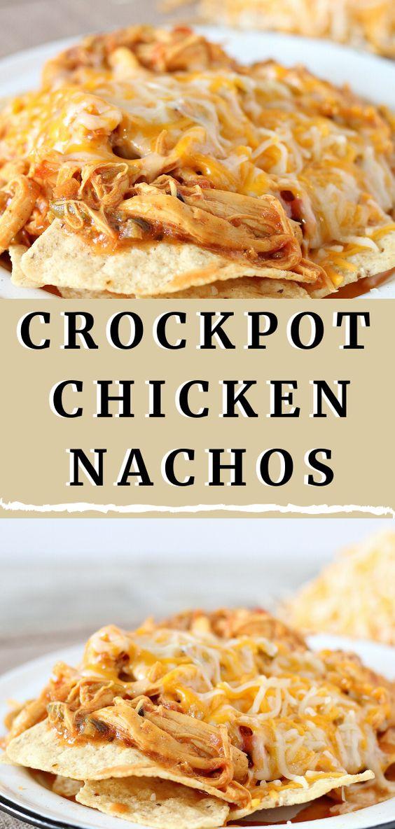Crockpot Taco Chicken Nachos