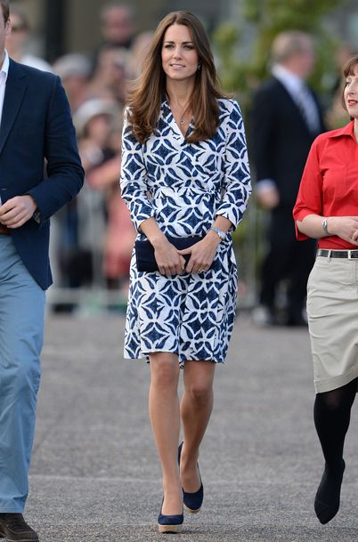 Kate Middleton en visite officielle à Katoomba en Australie le 17 avril 2014