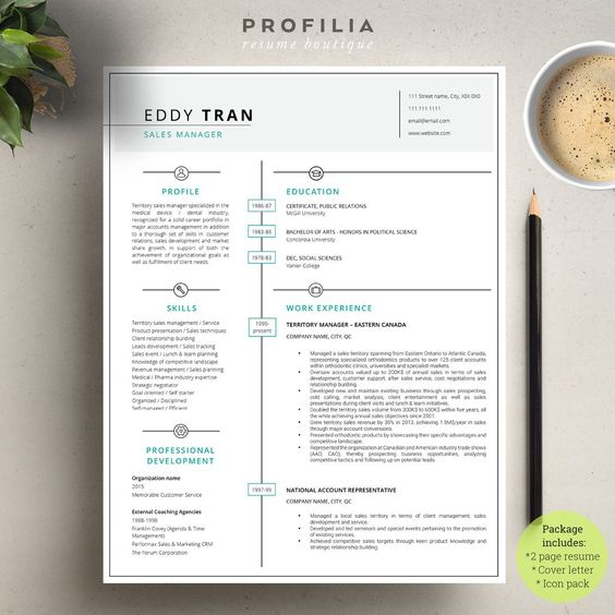 Modern Resume & Cover Letter Template --- Editable Word Format (#6