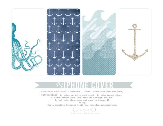 free printable diy summer iphone covers Summer, Cases and Anchors - slip template