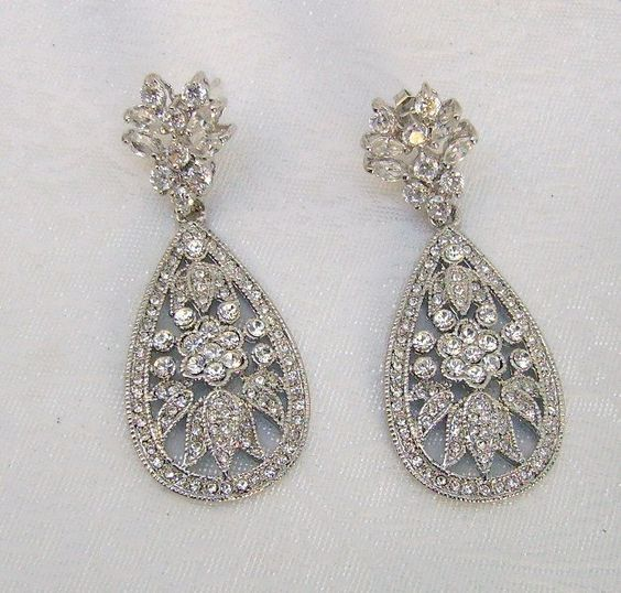Another vintage inspired pair of bridal earrings