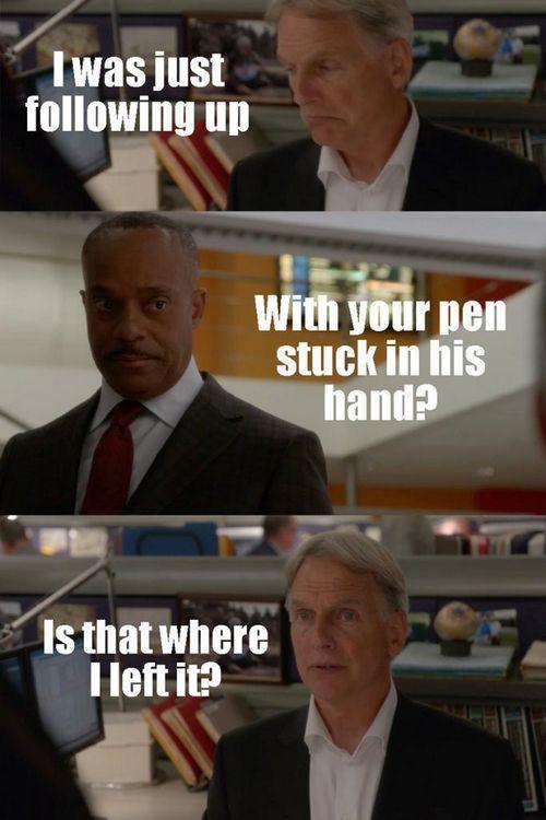 """NCIS @NCIS_CBS "" Gibbs is such a bad @$$ #NCIS pic.twitter.com/ugu4YhDiQm"