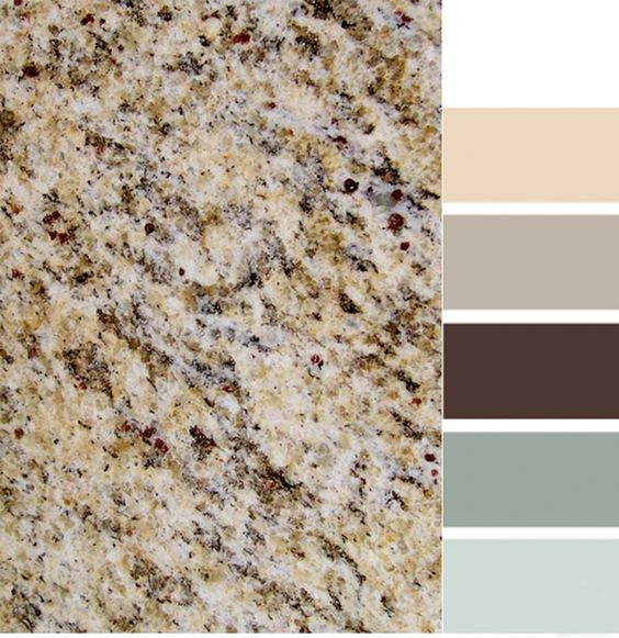 Light Colored Granite For Bathroom: Santa Cecilia Granite With Color Scheme.