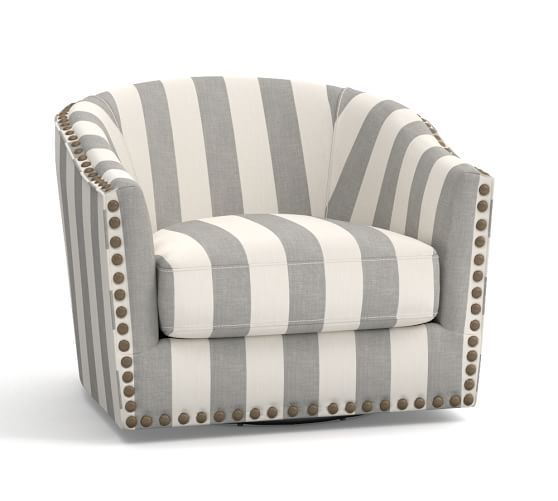 Harlow Upholstered Swivel Armchair Print And Pattern Cool Chairs Blue Chairs Living Room Chair