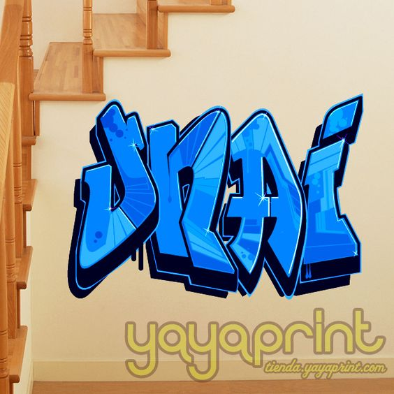 Vinilo de graffiti personalizado con tu nombre o la - Vinilos con nombre ...