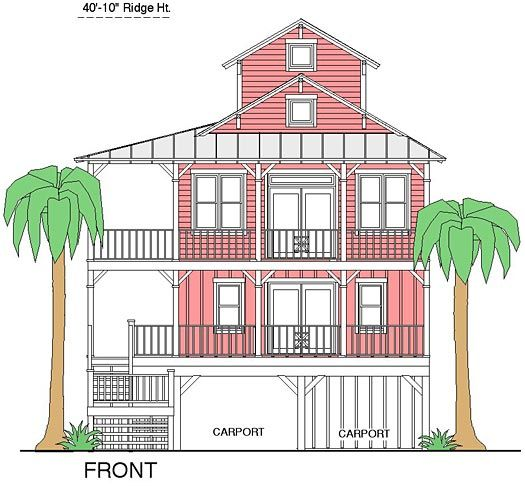 Coastal home plans bonner bay cottage ii favorite for Inverted beach house plans