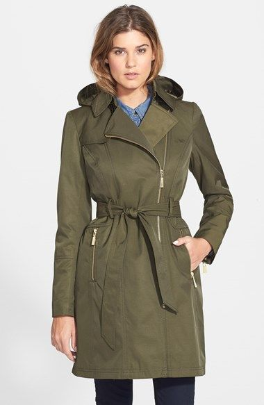 Women's Vince Camuto Water Resistant Trench Coat with Removable